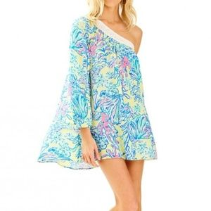 NWT Lilly Pulitzer Shealyn coverup lemon drop Sz S